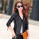 leather clothing Other / other Winter of 2019 S,M,L,XL,2XL PU leather have cash less than that is registered in the accounts Long sleeves Self cultivation street other zipper other PU Nail bead 25-29 years old Wash skin