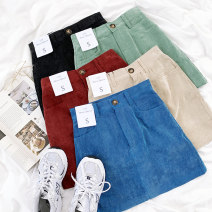 skirt Autumn 2020 S,M,L Apricot , blue , green , red , black 18-24 years old More than 95% cotton