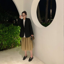 skirt Spring 2020 S,M,L Black, off white, sky blue, pickle green Mid length dress commute Natural waist A-line skirt Solid color Type A 25-29 years old D996 51% (inclusive) - 70% (inclusive) other YESWOMEN other Korean version