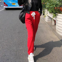 Casual pants Red, black, white XS / 1 [purchased freight insurance], S / 2 [seven days return and exchange], M / 3 [no worry about return and exchange], L / 4 [quality assurance], XL / 5 [high price ratio], XXL / 6 [full reduction] Spring 2021 trousers Straight pants High waist Versatile routine