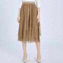 skirt Summer 2020 S / 2 [return in seven days], M / 3 [return without worry], L / 4 [quality assurance], XL / 5 [high performance price] Champagne, haze blue longuette Versatile High waist Pleated skirt Solid color Type A 30-34 years old A200096-1022366-735 More than 95% Brother amashsin