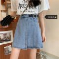 Women's large Spring 2021, summer 2021, autumn 2021 Blue, white S [recommended 80-95 kg], m [recommended 95-110 kg], l [recommended 110-125 kg], XL [recommended 125-140 kg], 2XL [recommended 140-160 kg], 3XL [recommended 160-180 kg], 4XL [recommended 180-200 kg] skirt singleton  commute easy moderate