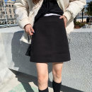 skirt Winter 2020 S,M,L Black, green, sky blue, off white, brown Short skirt Sweet High waist A-line skirt Solid color Type A 18-24 years old 71% (inclusive) - 80% (inclusive) Wool polyester fiber zipper solar system