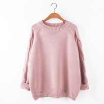 Wool knitwear Winter 2016 Average size Long sleeves singleton  Socket acrylic fibres More than 95% have cash less than that is registered in the accounts routine commute easy Low crew neck raglan sleeve Solid color Socket Korean version 18-24 years old