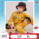 trousers mini peace male 110cm 120cm 130cm 140cm 150cm 160cm Yellow 1 yellow spring and autumn trousers leisure time There are models in the real shooting Jumpsuits middle-waisted cotton Don't open the crotch F1FBB2A44 Class B Jumpsuit Summer 2021