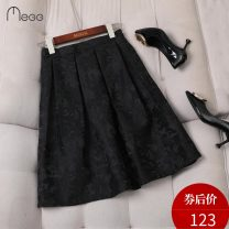 skirt Winter 2020 S M L XL XXL XXXL Black Rose Middle-skirt commute High waist Pleated skirt Solid color Type A M20273 More than 95% MZ & GG / muzige polyester fiber Pleated pocket Retro Polyester 100% Pure e-commerce (online only)