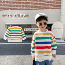 Sweater / sweater Cotton class Color stripe neutral 80cm,90cm,100cm,110cm,120cm,130cm spring and autumn nothing leisure time Socket routine There are models in the real shooting other stripe CC1016