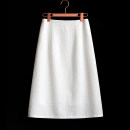 skirt Spring 2020 S,M,L,XL,2XL White, black Mid length dress commute High waist A-line skirt Solid color Type A 25-29 years old More than 95% other other zipper Korean version 301g / m ^ 2 (including) - 350g / m ^ 2 (including)