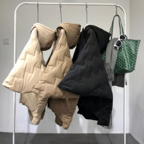 Down Jackets Winter of 2018 MUST BLOOM Camel, coffee, black S M L White Velvet 90% have cash less than that is registered in the accounts three quarter sleeve routine zipper Hood commute Bat sleeve Cape type Solid color 150g (including) - 200g (excluding) Retro 25-29 years old 96% and above polyester