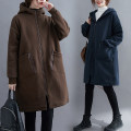 Sweater / sweater Winter 2020 Dark blue, black, coffee, dark green M [recommended 100-130 kg], l [recommended 130-155 kg], XL [recommended 155-180 kg], XXL [recommended 180-210 kg] Long sleeves Medium length Cardigan singleton  routine Hood easy commute routine Solid color Other / other cotton cotton