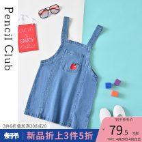 Dress Denim blue female Pencil Club 110 120 130 140 150 160 Cotton 99% polyurethane elastic fiber (spandex) 1% spring and autumn leisure time other other Denim skirt XPG591855B Class B Summer 2021 8, 9, 10, 11, 12, 13