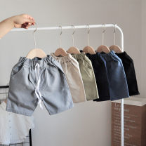 trousers Mr. Tong male summer Pant leisure time No model Casual pants Leather belt middle-waisted Cotton and hemp Open crotch 12 months, 18 months, 2 years old, 3 years old, 4 years old, 5 years old, 6 years old, 7 years old, 8 years old