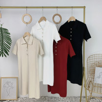 Dress Summer 2020 Black, white, apricot, red Average size Other / other