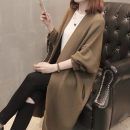Wool knitwear Spring of 2018 Average size Long sleeves singleton  Cardigan other More than 95% Medium length routine commute easy V-neck routine Solid color Korean version Gu Xueman Other 100% Pure e-commerce (online only)