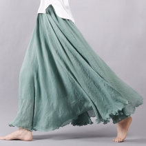 skirt Autumn 2015 longuette commute High waist A-line skirt Solid color Type A 25-29 years old M101 other I'm the most beautiful woman fold literature Pure e-commerce (online only)