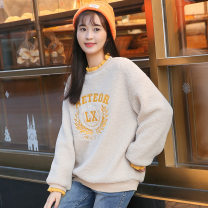 Sweater / sweater Winter 2020 Off white, grey S,XL,L,M,XXL Socket singleton  thickening easy Sweet Solid color Meteor love