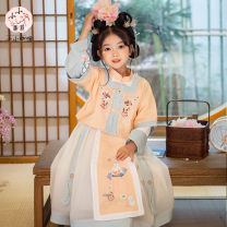 Hanfu nation 7, 8, 3, 6, 11, 5, 4, 10, 9, 12 other Chinese style female Pink, orange 21CK020 Tagkita / she and others 110,120,130,140,150