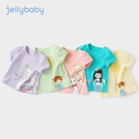 T-shirt Pattern 3 pattern 11 pattern 7 pattern 8 pattern 6 pattern 9 jellybaby 73cm 80cm 90cm 100cm 110cm 120cm 130cm female summer Short sleeve Crew neck leisure time There are models in the real shooting cotton Cartoon animation Cotton 95% polyurethane elastic fiber (spandex) 5% JX02-JL494V other