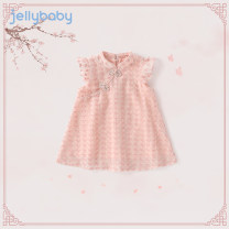 Tang costume Pink 1 light apricot-1 light apricot pink-jqg12497 red sky blue 80 90 100 110 120 130 140 Other 100% female summer There are models in the real shooting Thin money jellybaby other other other JQ02-JL421V Summer 2021