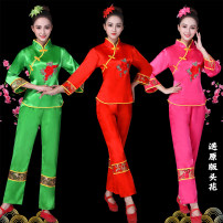 National costume / stage costume Autumn of 2018 Green, red, rose S. M, l, XL, XXL, XXL, plus XXL, 5XL Three little magpies Over 35 years old Tencel