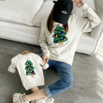 Parent child fashion Rice ash A family of three Female, male, neutral Other / other smoothly winter leisure time Plush Solid color Sweater / sweater cotton Average size Cotton 100% Class B M,L,XL