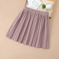 skirt 100cm, 110cm, 120cm, 130cm, 140cm, 150cm, 160cm, Mom: M size Black, pink, khaki Other / other female Polyester 80% other 20% winter skirt Korean version Solid color Pleats other other
