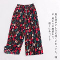 Casual pants Purple flower a-5-26-3, red and white flower a-5-26-3, blue and yellow flower a-5-26-3, red and green flower a-5-26-3, green flower a-5-26-3 3XL Summer 2020 Ninth pants Wide leg pants High waist commute Thin money Lady Boya ethnic style