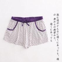 Casual pants Purple Print a-8-14-1 S,M,L Summer 2020 shorts commute Thin money Lady Boya Simplicity