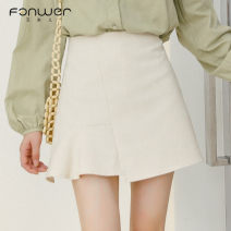 skirt Spring 2021 S M L Apricot Short skirt Sweet Natural waist 18-24 years old -7030-1 More than 95% Fan Weier other Other 100% Pure e-commerce (online only) solar system