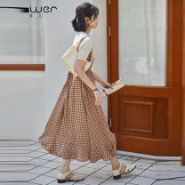 Dress Spring 2021 Picture color S M L Mid length dress Sweet 18-24 years old Fan Weier 8761-2 More than 95% other Other 100% solar system Pure e-commerce (online only)