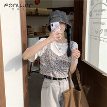 Fashion suit Summer 2021 Average size White sling single piece black sling single piece white T-shirt single piece black T-shirt single piece 18-25 years old Fan Weier Other 100% Pure e-commerce (online only)