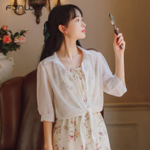 Lace / Chiffon Spring 2021 white S M L XL three quarter sleeve Sweet singleton  easy have cash less than that is registered in the accounts Solid color bishop sleeve 18-24 years old Fan Weier 9362-3 71% (inclusive) - 80% (inclusive) Other 100% polyester fiber solar system