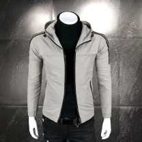 Jacket Other / other Youth fashion Gray, black L,XL,2XL,3XL,4XL,5XL,6XL Plush and thicken Self cultivation Other leisure winter S-03 Long sleeves Wear out Hood Youthful vigor youth routine Zipper placket 2018 other No iron treatment Closing sleeve other polyester fiber Pleated patch bag