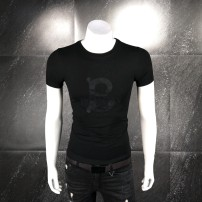 T-shirt Youth fashion Black, white routine M,L,XL,2XL,3XL,4XL Others Short sleeve Crew neck Self cultivation daily summer 30307J Cotton 95% polyurethane elastic fiber (spandex) 5% youth routine Youthful vigor Woven cloth 2021 Alphanumeric Embroidery cotton Creative interest No iron treatment