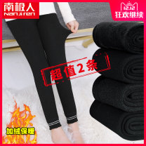 trousers High waist Rubber belt Fall 2018 female 5 years old, 6 years old, 7 years old, 8 years old, 9 years old, 10 years old, 11 years old, 12 years old, 13 years old, 14 years old NGGGN Ninth pants Leggings winter There are models in the real shot Don't open the crotch Korean version YTK YTK