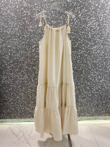 Dress Summer 2021 Off white, black S,M,L,XL longuette singleton  Sleeveless commute other Solid color Socket other routine 18-24 years old Korean version 51% (inclusive) - 70% (inclusive) other other