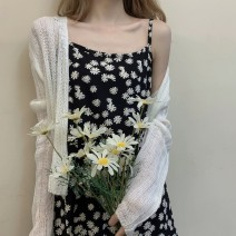 Dress Summer 2020 Daisy dress + cardigan S M L XL Short skirt Two piece set Long sleeves commute V-neck High waist Solid color Socket A-line skirt routine camisole 18-24 years old Type A Love fame and elegance QFN1180 More than 95% other Other 100% Pure e-commerce (online only)