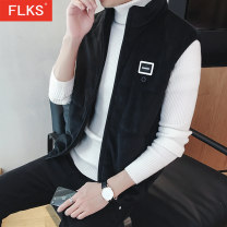 Vest / vest Youth fashion F.L.K.S 165 170 175 180 185 Black f1991 black f1991 grey f1992 hooded black f1992 hooded grey Other leisure Self cultivation Cotton vest Plush and thicken winter stand collar teenagers 2018 Youthful vigor FLKS0088 Solid color zipper Rubber band hem other other Flocking