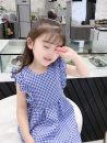 Dress Yellow, blue female Other / other 90cm,100cm,110cm,120cm,130cm,140cm Other 100% summer Korean version 18 months, 2 years old, 3 years old, 4 years old, 5 years old, 6 years old, 7 years old, 8 years old, 9 years old, 10 years old, 11 years old