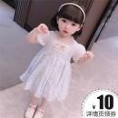 Dress Light blue, pink female Other / other 90cm,100cm,110cm,120cm,130cm Other 100% summer princess Long sleeves cotton other 7 years old, 8 years old, 12 months old, 3 years old, 3 months old, 6 years old, 18 months old, 9 months old, 6 months old, 2 years old, 5 years old, 4 years old