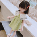 Dress Light green female Other / other 90cm,100cm,110cm,120cm,130cm Other 100% summer princess Short sleeve Solid color cotton Pleats 8 years old, 12 months old, 3 years old, 6 years old, 18 months old, 9 months old, 6 months old, 2 years old, 5 years old, 4 years old, 7 years old Chinese Mainland