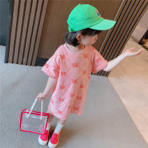 T-shirt Red, pink Other / other 90cm,100cm,110cm,120cm,130cm female summer princess There are models in the real shooting nothing cotton Printing 7 years old, 8 years old, 12 months old, 3 years old, 6 years old, 18 months old, 9 months old, 6 months old, 2 years old, 5 years old, 4 years old