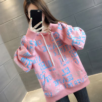 Sweater / sweater Autumn 2020 Pink white yellow blue S M L XL Long sleeves routine Socket singleton  routine Hood easy commute routine letter 18-24 years old 96% and above You've got to go Korean version other H00706 printing Other 100% Pure e-commerce (online only)
