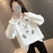 Sweater / sweater Spring 2021 White green rose red black S M L XL Long sleeves routine Socket singleton  routine Crew neck easy commute routine Cartoon animation 18-24 years old 96% and above You've got to go Korean version other H01211 printing cotton Other 100% Pure e-commerce (online only)