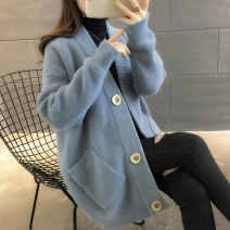 Wool knitwear Spring of 2019 S M L XL Off white light coffee Blue Pink Long sleeves singleton  Cardigan other More than 95% Regular routine commute easy V-neck routine Solid color Single breasted Korean version A00222 You've got to go Pocket button Other 100% Pure e-commerce (online only)