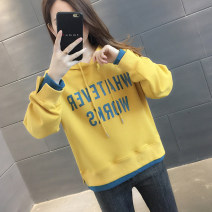 Sweater / sweater Autumn 2020 S M L XL Long sleeves routine Socket Fake two pieces routine Crew neck easy commute routine letter 96% and above You've got to go Korean version other Splicing Other 100% Pure e-commerce (online only)