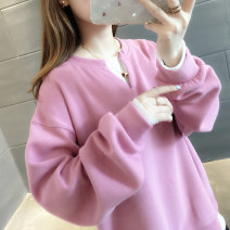 Sweater / sweater Autumn of 2019 Brick red sapphire blue green Navy Blue Pink Yellow S M L XL Long sleeves routine Socket Fake two pieces routine Crew neck easy commute routine 96% and above You've got to go Korean version other A01948 Other 100% Pure e-commerce (online only)