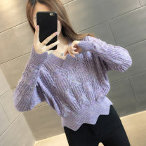 sweater Autumn 2020 S M L XL Long sleeves Socket singleton  Regular other 95% and above V-neck Regular commute routine Straight cylinder Regular wool Keep warm and warm You've got to go Other 100% Pure e-commerce (online only)