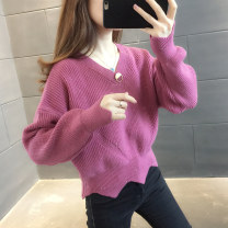 sweater Winter 2020 S M L XL Beibai rubber pink pink purple blue Long sleeves Socket singleton  Regular other 95% and above V-neck Regular commute routine Solid color Straight cylinder Regular wool Keep warm and warm You've got to go A06297 Other 100% Pure e-commerce (online only)