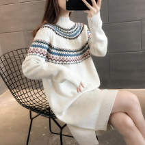 sweater Winter 2020 S M L XL Long sleeves Socket singleton  Medium length other 95% and above Half high collar Regular commute routine Straight cylinder Regular wool Keep warm and warm You've got to go thread Other 100% Pure e-commerce (online only)
